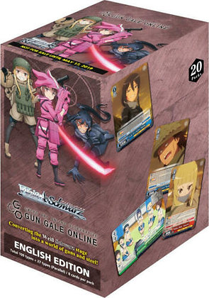 Weiss Weiß Schwarz ENGLISH Sword Art: Gun Gale Online Booster Box 20ct SEALED!