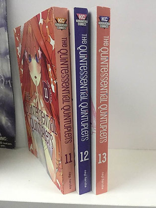 The Quintessential Quintuplets Vol 11,12,13 ( 3 Manga) Paperback