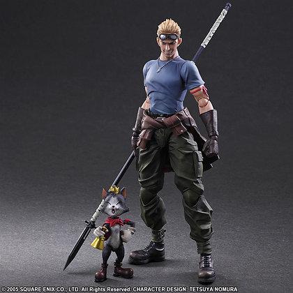 """""""Final Fantasy VII Advent Children"""" Play Arts Kai Cid Highwind & Cait Sith"""