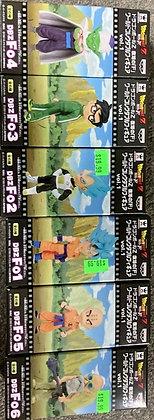 Set of 6 Banpresto Dragon Ball Z  Movie World Collectable Volume 1 Figures