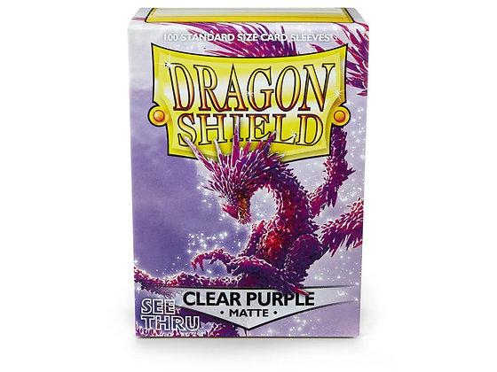 Dragon Shields: (100) Matte Clear Purple card sleeves