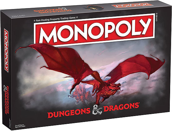 Monopoly Dungeons & Dragons Edition Board Game