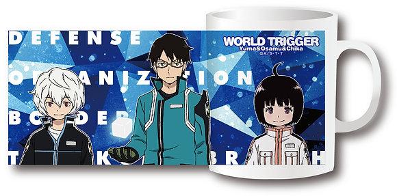 """""""World Trigger"""" Mug B Osamu & Yuma & Chika  by Morimoto Industry"""
