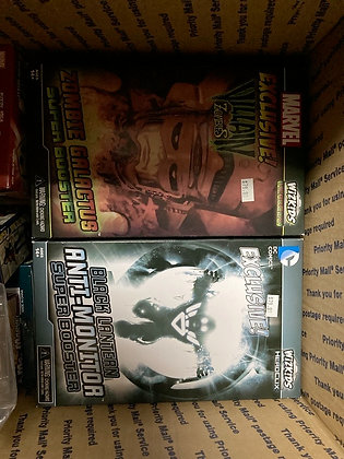Lot of 2 Marvel and DC Zombie Galactus and Black Lantern Anti-Monitor Limited Ed