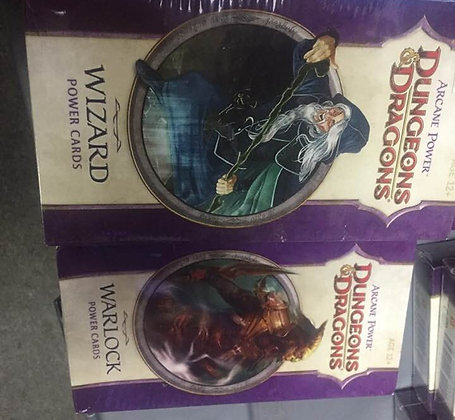 Lot of 3 Dungeons and Dragons Arcane Power Card Sets