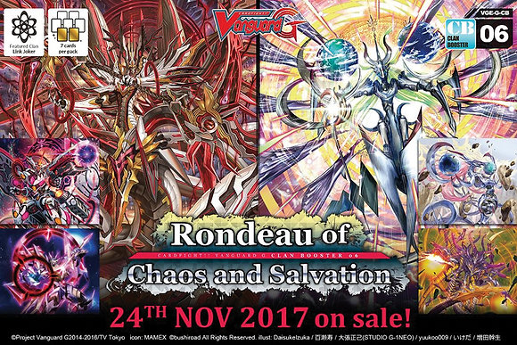 Cardfight Vanguard TCG: Rondeau of Chaos and Salvation Sealed Booster Box (12ct)