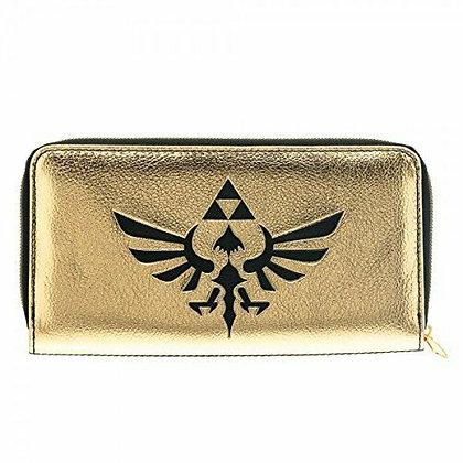 Bioworld Nintendo The Legend of Zelda Logo Gold/Black Zip Around Wallet