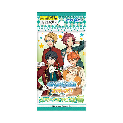 """3 packs of """"Ensemble Stars!"""" Clear Card Collection Gum 6 First Release Limited E"""