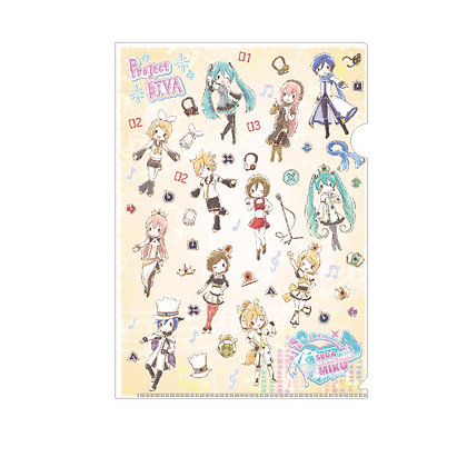 "Clear File ""Hatsune Miku -Project Diva-"" 02 Pattern Design Yellow (Graff Art Des"
