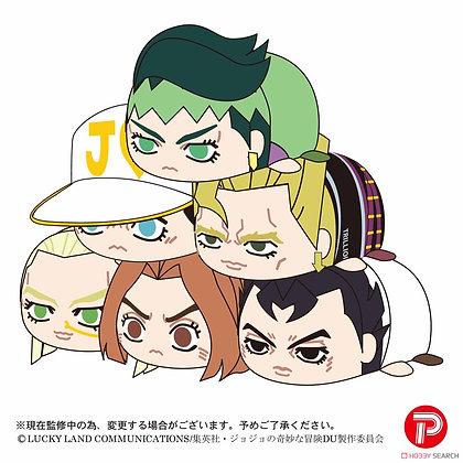 "Set of 6 ""JoJo's Bizarre Adventure Diamond Is Unbreakable"" Potekoro Mascot"