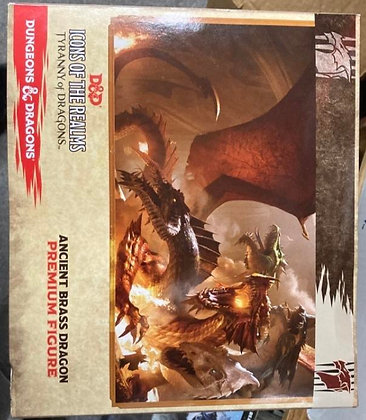Dungeons & Dragons Icons of The Realms Tyranny of Dragons Brass Dragon Figure