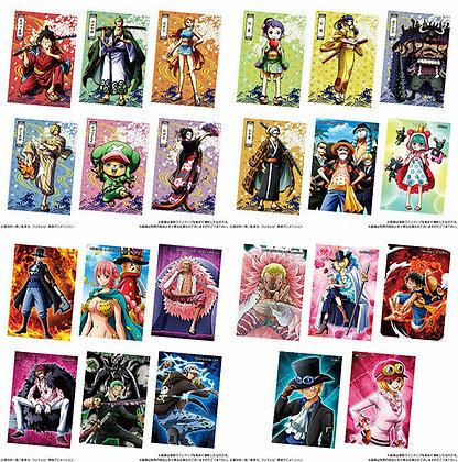 4 RANDOM PACKS Bandai ONE PIECE Wafer Samurai no Kuni  (CANDY TOY)