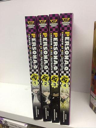 Persona Q: Shadow of the Labyrinth Side - P4 Vol. 1,2,3,4 (English Manga)