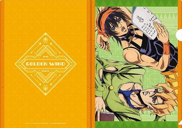 """JoJo's Bizarre Adventure Golden Wind"" Clear File Narancia & Fugo"