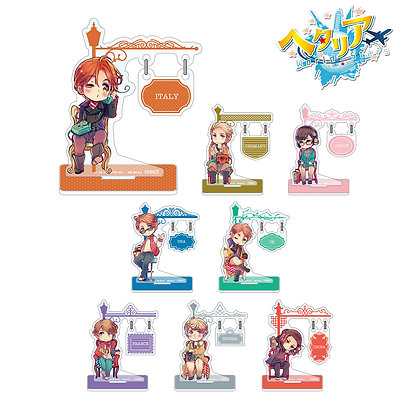 "Set of 8 ""Hetalia World Stars"" Trading Yurayura Sign Acrylic Stand 4580518963463"