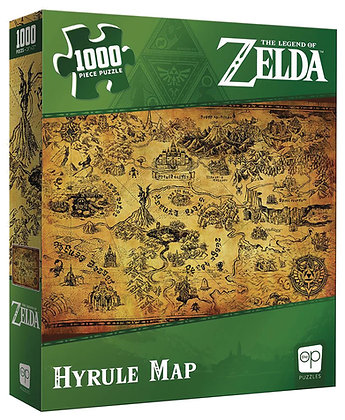 ZELDA HYRULE MAP 1000 PC PUZZLE  USAOPOLY