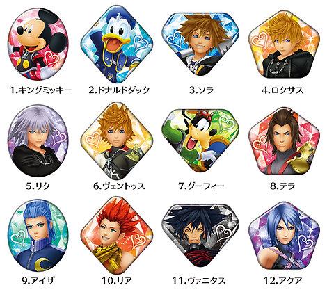 "Ensky Set of 12""Kingdom Hearts"" Jemcut Can Badge"