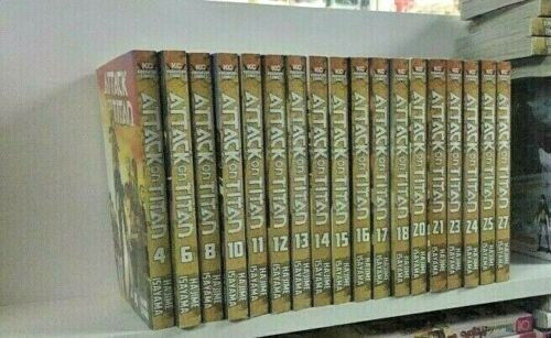 Attack on Titan Vol. 4, 6,8,10,11,12,13,14,15,16,17,18,20,21,23,24,25,27 (18 man