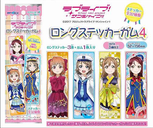 "3 ""Love Live! Sunshine!!"" Long Sticker Gum 4"