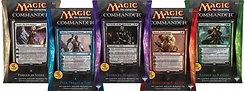 Set of 5 Sealed 2014 Magic the Gathering MTG ENGLISH Commander Decks