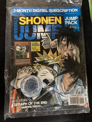 Weekly Shonen Jump Jump Pack 2014 Issue 3 Sealed with a YuGiOh Card