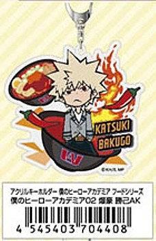 "Acrylic Key Chain ""My Hero Academia"" Food Series 02 Bakugo Katsuki AK"