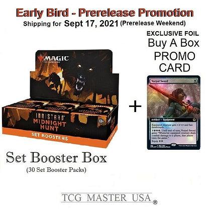 Sealed MTG Innistrad Midnight Hunt Set Booster Box + 1 Pro Card