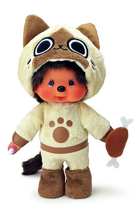 Monster Hunter x Monchhichi Airou x Monchhichi Plush Doll