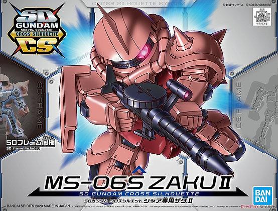 BandaiSD Gundam Cross Silhouette MS-06S ZAKU II (SD) (Gundam Model Kit)