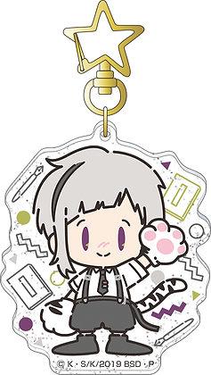 """""""Bungo Stray Dogs"""" Acrylic Key Chain Nakajima Atsushi Retro Chibi Character"""