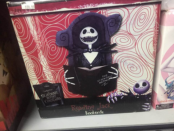 Nightmare Before Christmas NBX BOOKEND SET READING JACK  NECA