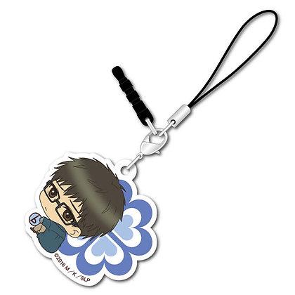 """Super Lovers"" Bocchi-kun Acrylic Charm Shima"