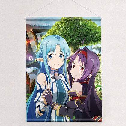 """Sword Art Online II"" Tapestry Asuna & Yuki"