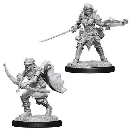 Deep Cuts Unpainted Minis: Female Half-Elf Ranger
