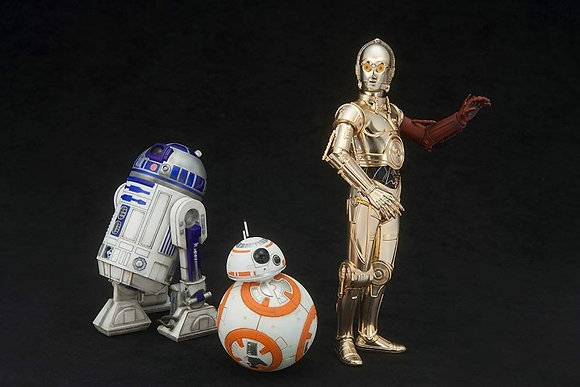 Kotobukiya Star Wars Episode 7 The Force Awakens C-3PO & R2-D2 with BB-8 ArtFX+