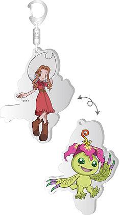 """""""Digimon Adventure:"""" Changing Acrylic Key Chain Mimi & Palmon  by Brujula"""