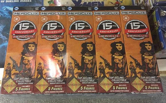 DC Heroclix 15th Anniversary  Brick  (10 Boosters)