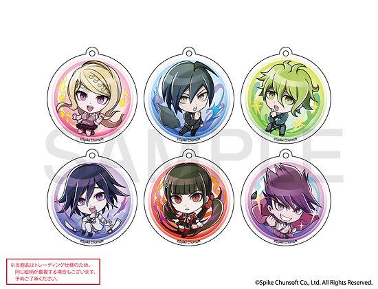 "Set of 6 ""Danganronpa V3 Killing Harmony"" Sphere Art Trading PVC Ball Chain by E"