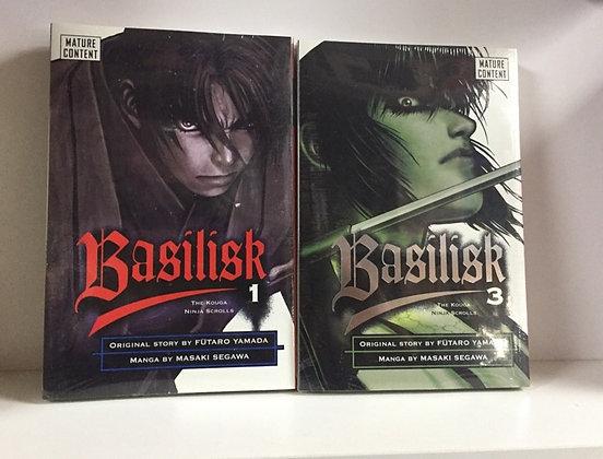 Basilisk The Kouga Ninja Scrolls Vol.1,3 Manga (2 Books)  byMasaki Segawaan