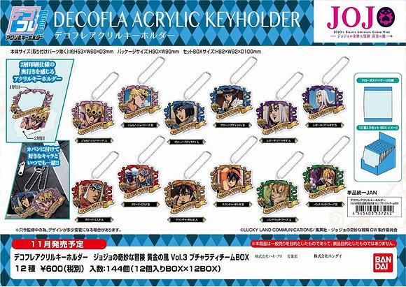 "set of 12DECOFLA Acrylic Key Chain ""JoJo's Bizarre Adventure Golden Wind"" Vol."