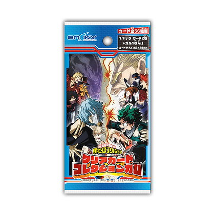 "3 packs of ""My Hero Academia"" Clear Card Collection Gum"