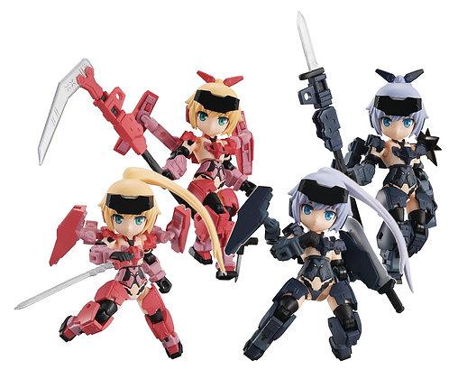 Desktop Army Frame Arms Girl KT-323f Jinrai Series (Set of 4) (PVC Figure)