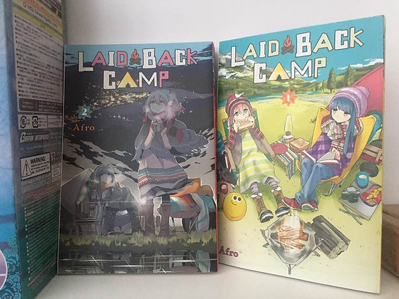 Laid-Back Camp Vol.1,2 Manga Books   Author: Afro  Rin enjoys camping by the lak