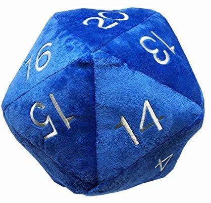 Plush D20 Dice Bag Blue Ultra Pro RPG Roleplaying Game Pouch Holder Storage