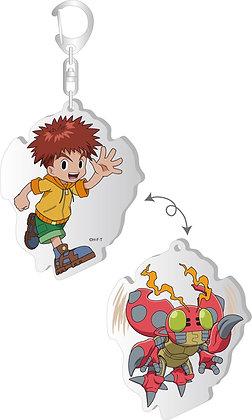 """Digimon Adventure:"" Changing Acrylic Key Chain Koshiro & Tentomon  by Brujula"