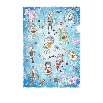 "Clear File ""Hatsune Miku -Project Diva-"" 01 Pattern Design Blue (Graff Art Desig"
