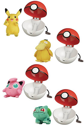 set of 4 POKEMON POP-ACTION POKEBALL ASST WAVE 3 WICKED COOL TOYS