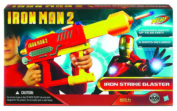 IRON MAN 2 NERF BLASTER  HASBRO TOY GROUP  From Kenner/Hasbro Toy Group