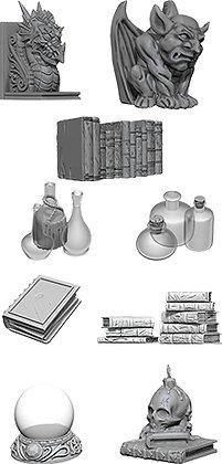 WizKids Deep Cuts Unpainted Miniatures: Wizards Room WIZKIDS/NECA