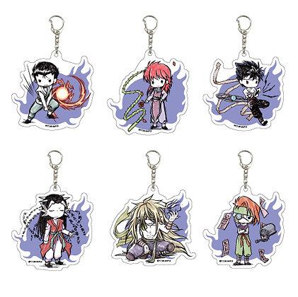 "Set of 6  Acrylic Key Chain ""YuYu Hakusho"" 04 Graff Art Design"